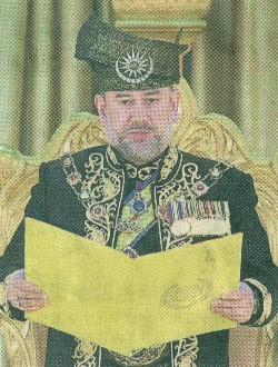 蘇丹端姑莫哈末五世宣誓就任我國第15任國家元首。.JPG